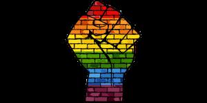 Rainbow hand/fist